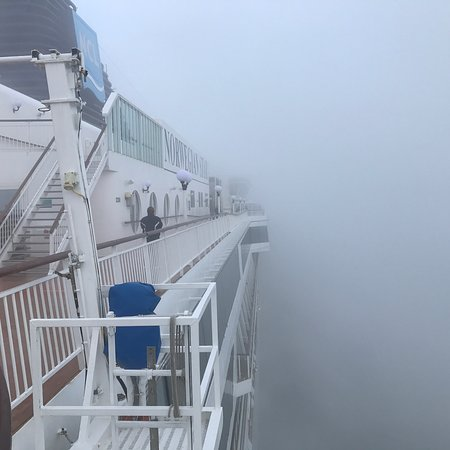 Norwegian Star: Fogged in