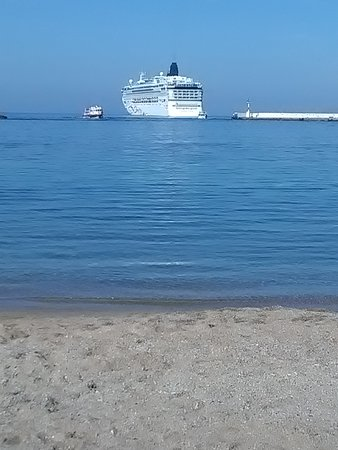 Norwegian Star: Mykonos, view of the Star