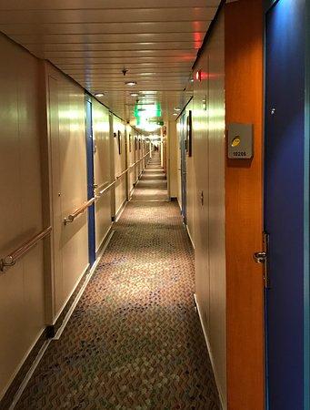 Norwegian Dawn: The never ending hallway. Lol