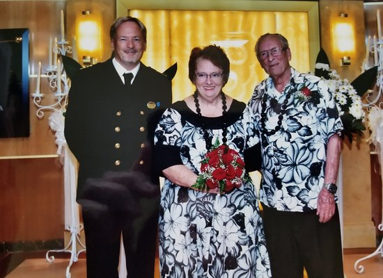 Grand Princess: Our vow renewals with captain Wilson