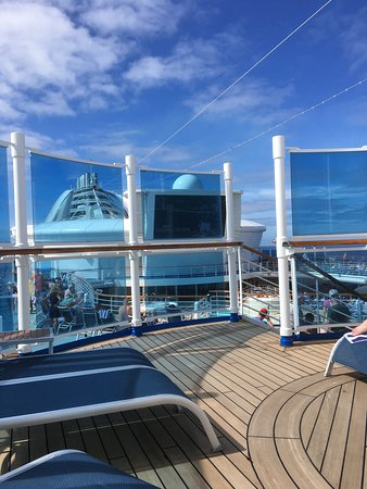 Star Princess: Awesome weather to watch the NFL playoffs on the big screen
