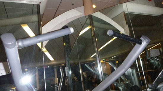 Grandeur of the Seas: Really?  Electrical tape on the handle...... That would never fly at my gym