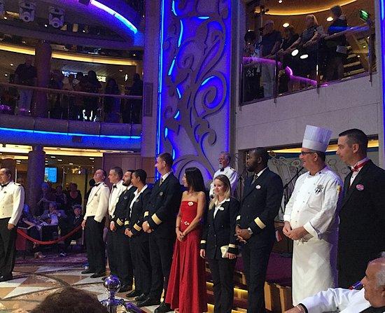 Brilliance of the Seas: Captain and senior staff
