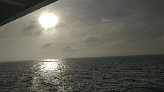 Brilliance of the Seas: Sun setting leaving Cozumel!