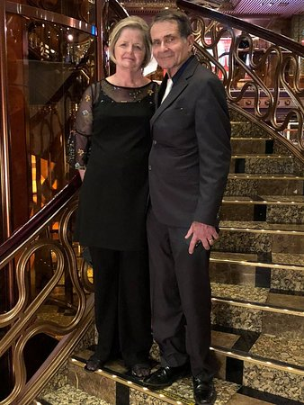 Carnival Elation: This was after the dressup dinner and wanted it in the beautiful atrium.