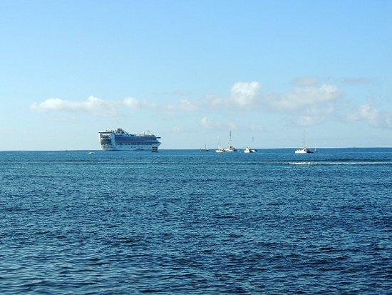 Star Princess anchored off Maui.