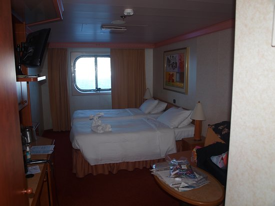 Carnival Glory: our room.