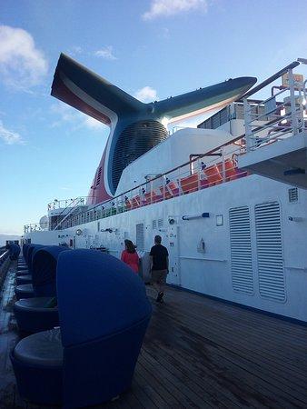 Walking the ship Carnival Spirit,