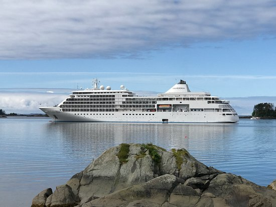 Silver Shadow anchored in Sitka, Alaska