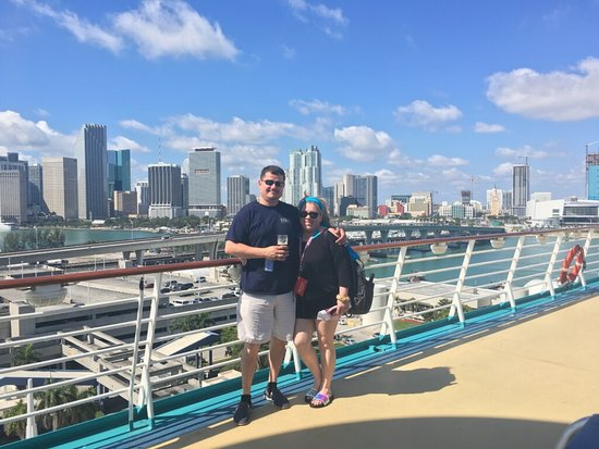 Navigator of the Seas: On the deck departing Miami.