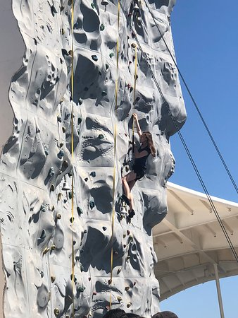 Navigator of the Seas: Rock Climbing to the top