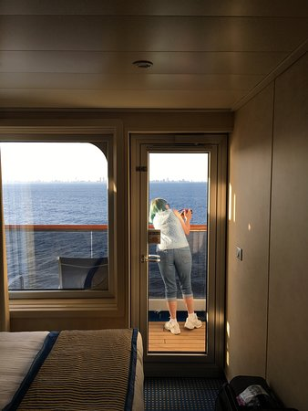 Carnival Victory has magnificent Staterooms , richly designed and a balcony with a view.