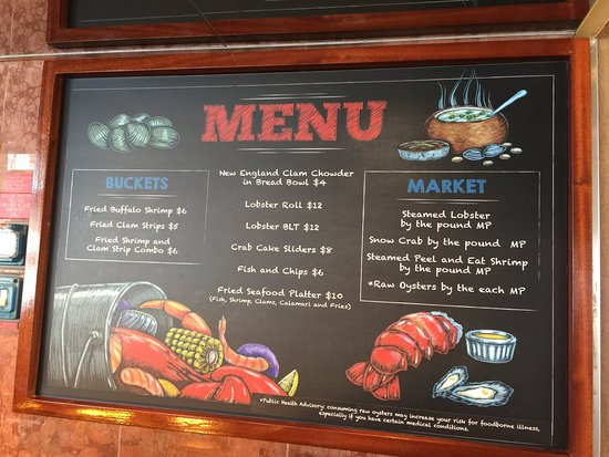 Carnival Conquest: Seafood Shack Menu and Prices