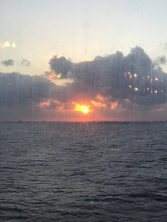 Carnival Triumph: This is one of the beautiful sunsets we witnessed while cruising.