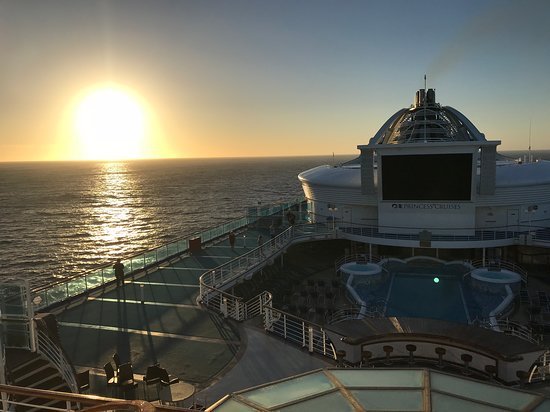 sunrise on the Golden princess in the great Australian Bight.