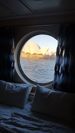Explorer of the Seas: View from our port hole day 1.