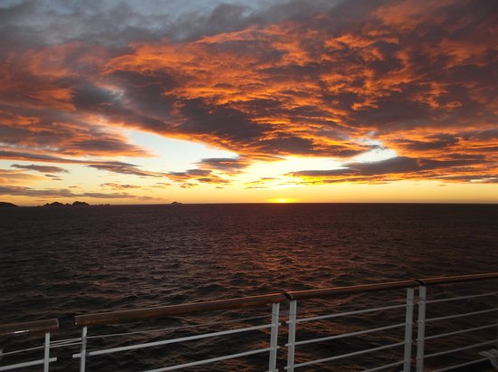 Celebrity Infinity: Cape Horn sunrise
