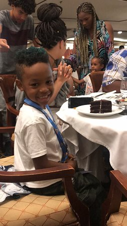 Enchantment of the Seas: Birthday Boy!  The big 7