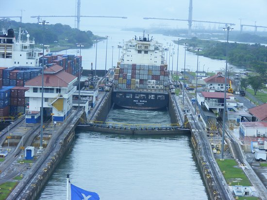 Celebrity Infinity: Exiting the canal into the Caribbean