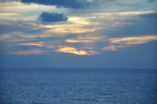 Rhapsody of the Seas: Sunset on the trip to Tampa