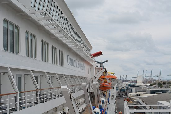 Carnival Sensation: View from Deck