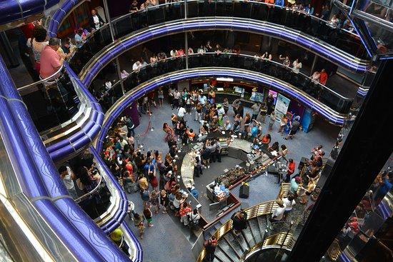 Carnival Sensation: View from main deck first day party