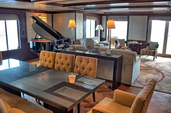 Celebrity Summit: The main living area of the penthouse suite.