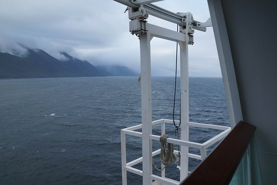 Explorer of the Seas: Maintenance platform viewed from deck 12 stateroom 1838