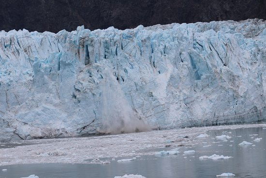 Golden Princess: Photo of ice falling off a glacier taken from our balcony