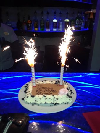 Surprising Fireworks Bday Cake From Luisa Picture Of Tamarijn Aruba All Funny Birthday Cards Online Alyptdamsfinfo