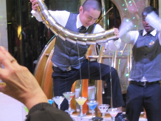 Coral Princess: Martini contest where this young fellow made multiple martini's and pou