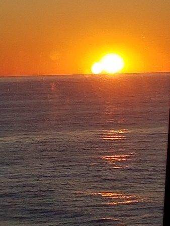 Norwegian Dawn: Sunset from the Garden Cafe