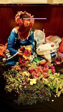 Paul Gauguin: Lovely ladies of Moorea making leis and heis.
