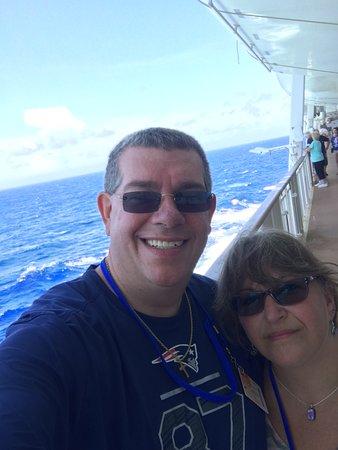 Norwegian Dawn: On the deck!