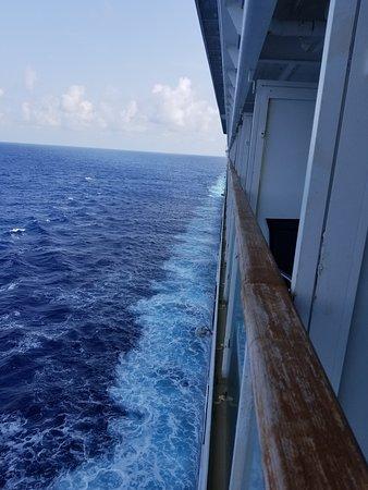 Norwegian Dawn: View from balcony