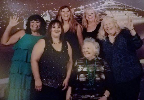 Star Princess: Some of our group on Captain's dinner night