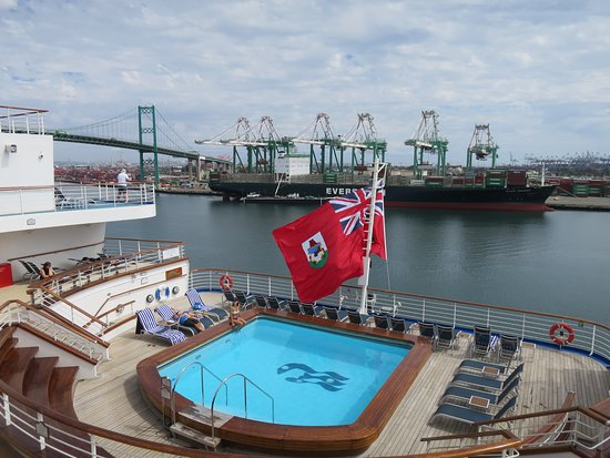 Grand Princess: Aft Terrance and LA Container Port