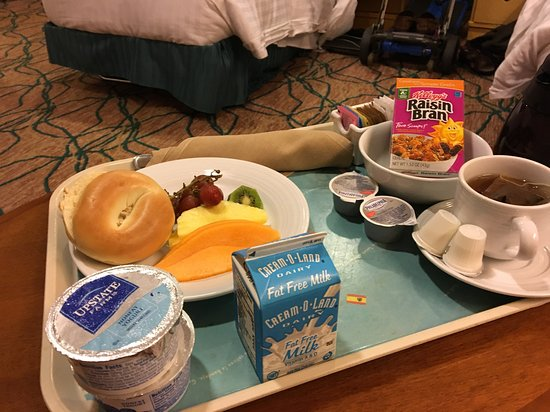 Grandeur of the Seas: Room Service tray