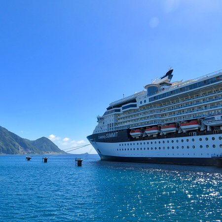 Celebrity Summit, docked at Roseau, Dominica
