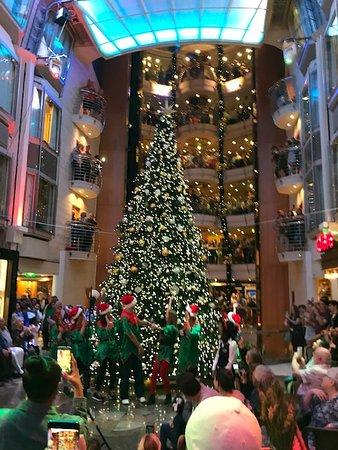 Navigator of the Seas: Christmas Tree Lighting in the Promenade