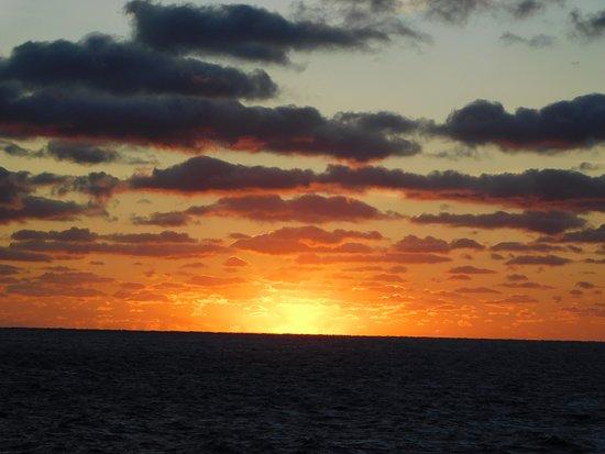 Grandeur of the Seas: aft sunset view