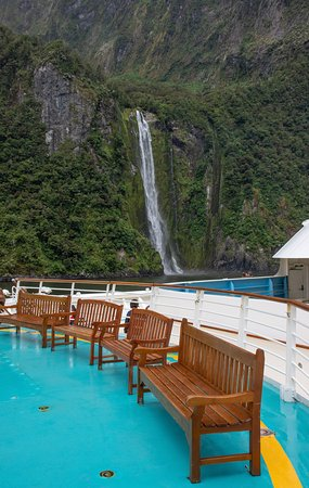 Radiance of the Seas: Best place to see Milford Sound is from the bow....