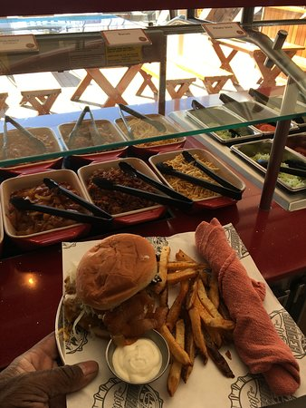 Carnival Inspiration: Guys Burger Joint was great. I loved the choices of topping and everything