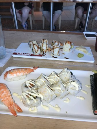 Rhapsody of the Seas: The sushi making class was very fun, and the sushi you make actually tastes
