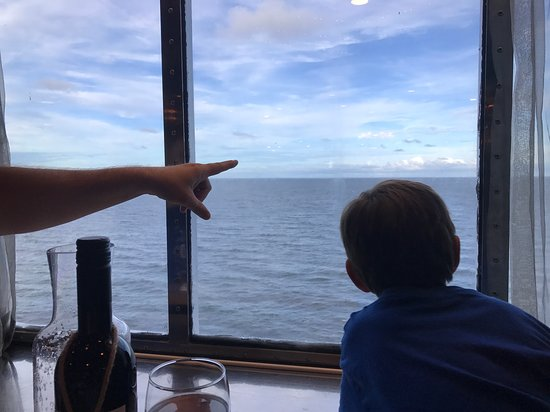 Carnival Fantasy: Looking out the window in the MDR