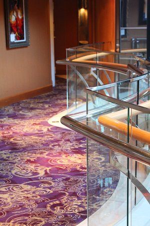 Vision of the Seas: Deck 7 hall above Centrum (view vertically, could not rotate photo)