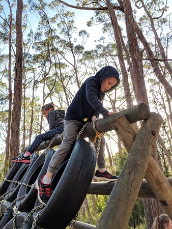 Tyre Climb obstacle on Challenge Hill