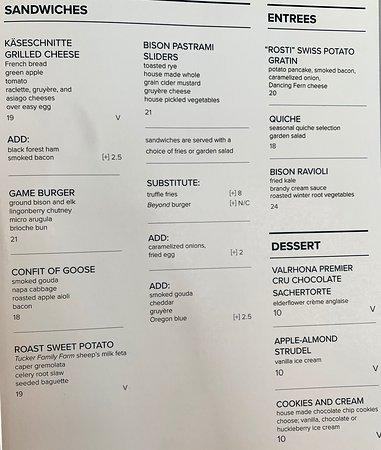 Everett's 8800: 2019 menu