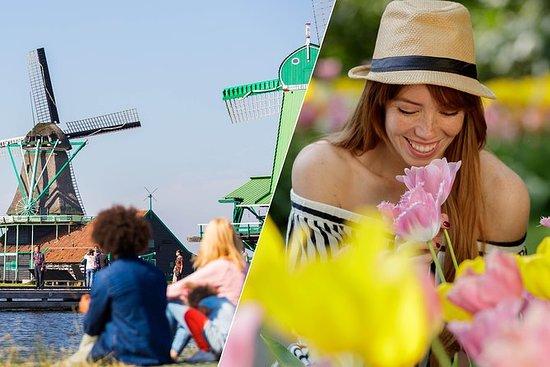 アムステルダムスーパーセーバー:田園地帯と風車+ Keukenhof Garde…