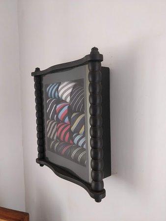 La Maison: Unique showpiece, made from rolled neckties